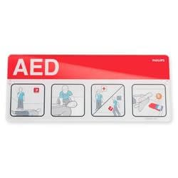 1533989 Philips AED Defibrillator Wall Placard sign