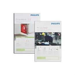 Philips AED Awareness Poster 4 Pack