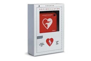 PFE7024D Premium Surface Mounted Alarm AED Defibrillator Cabinet