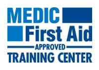 AED Defibrillator Medic First Aid Approved Training Center Button