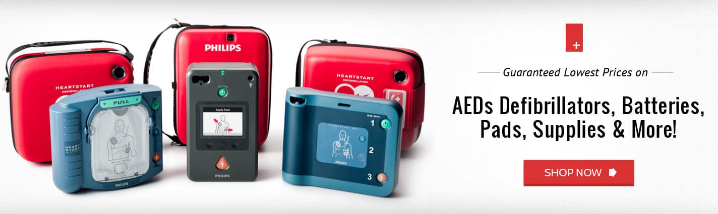 Philips Heartstart Defibrillator Battery, Pads, AEDs, and More