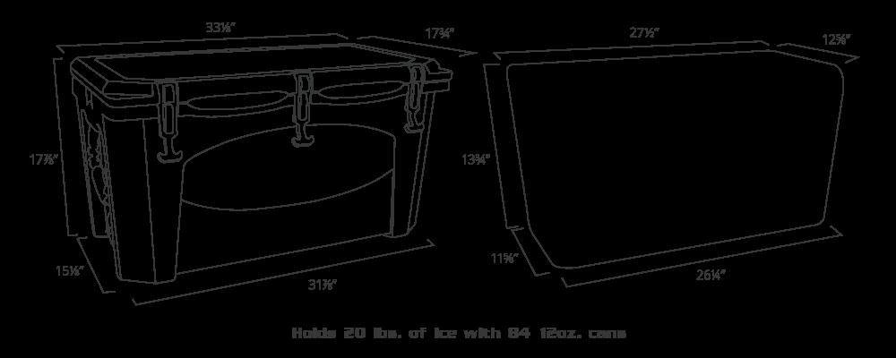 G75 Cooler dimensions